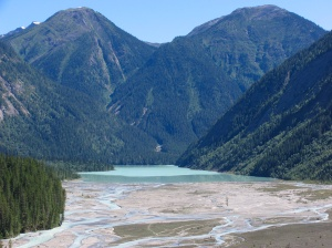 Alluvial flats draining into Kinney Lake