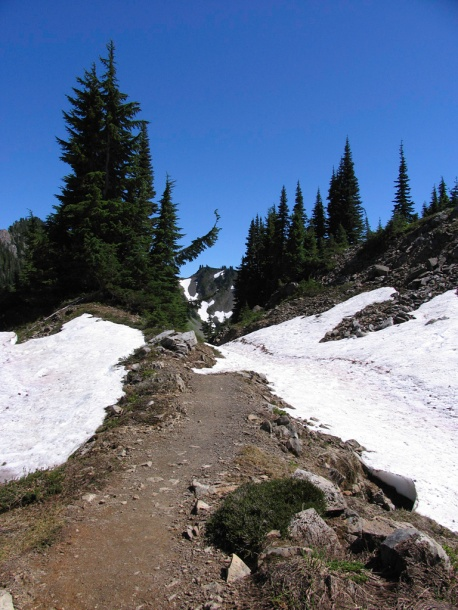 Snowpack persists well into August