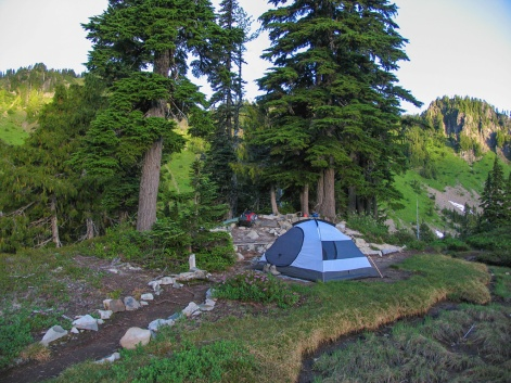 Our campsite at Lunch Lake