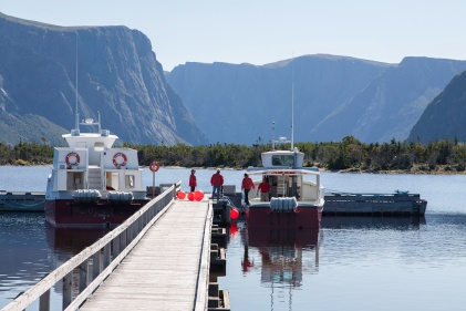 Western Brook Pond: Waiting to board