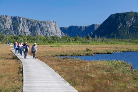 Returning from Western Brook Pond to the parking area (45 minute walk)