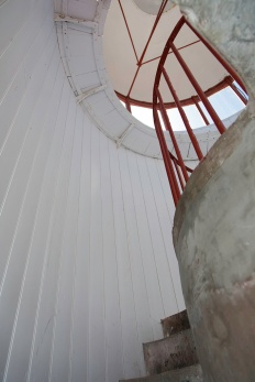 Inside the main lighthouse at Cape Spear