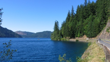 Lake Crescent along Route 101