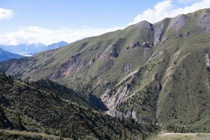 Sheep Creek Trail: A view toward Sheep Creek