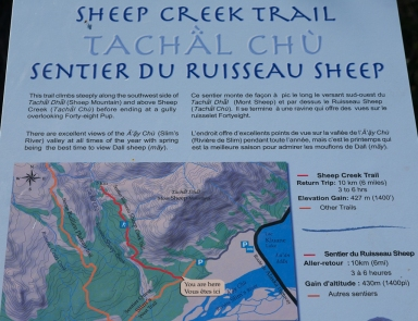 Sheep Creek Trail: At the trailhead