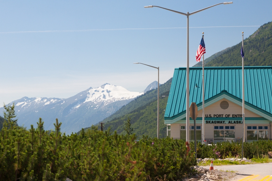 U.S. Border crossing at Skagway