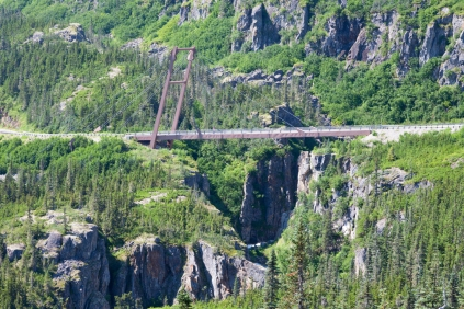 Descending the Klondike Highway into Skagway