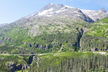 Descending the Klondike Highway into Skagway