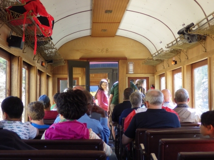 White Pass & Yukon Route train trip