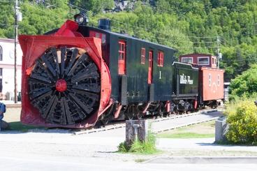 White Pass & Yukon Route steam train snow blower