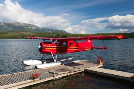 Floatplane base on Schwatka Lake
