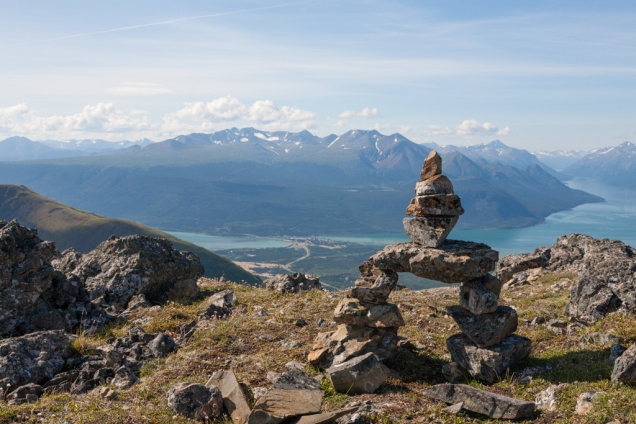 Caribou Mountain: After an elevation gain of 3,200' - Summit views!