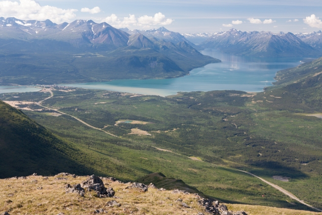 Caribou Mountain: Views of Carcross & Lake Bennett in the distance