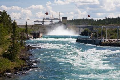 Yukon Energy power dam on the Yukon River