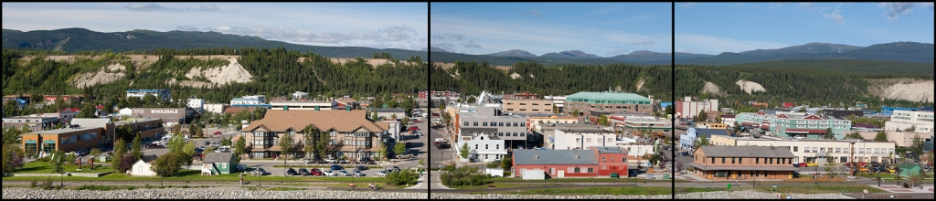 Panoramic view of downtown Whitehorse