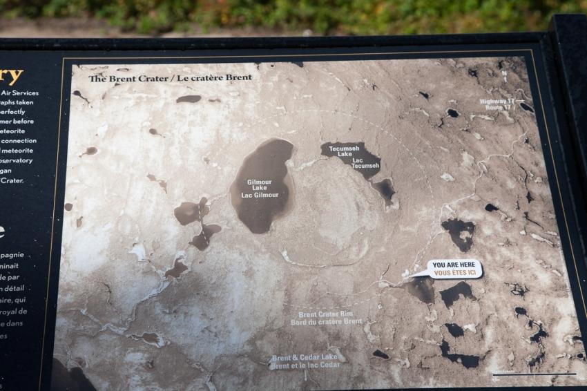 Brent Crater interpretive panel