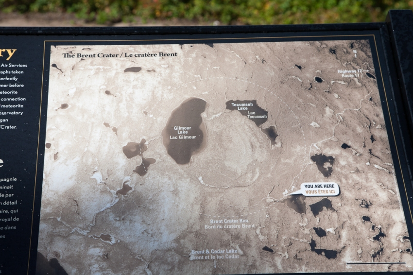 Brent Crater interpretive panel