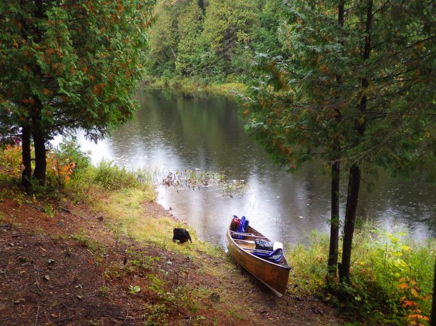 Rest stop on Cauchon Creek