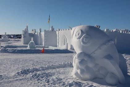 Snowking Castle & sculpture